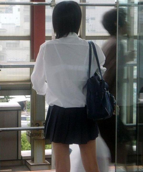 透けブラ_JK_夏服_盗撮_エロ画像_12