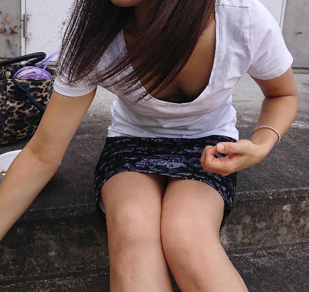 胸チラ_おっぱい_素人_盗撮_エロ画像_08