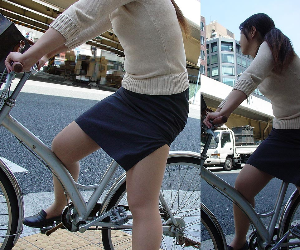 OL_自転車_タイトスカート_盗撮_エロ画像_10
