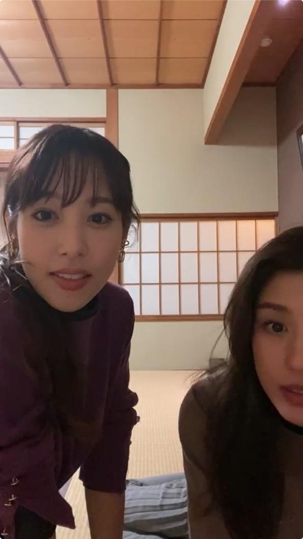 鷲見玲奈_岡副麻希_女子アナ_インスタライブ_13