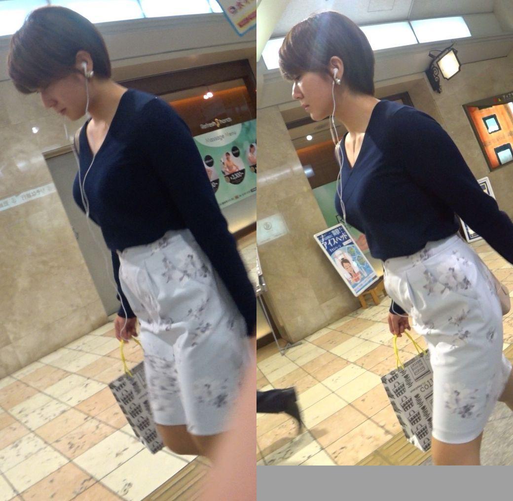 着衣巨乳_デカパイ_街撮り_エロ画像_08