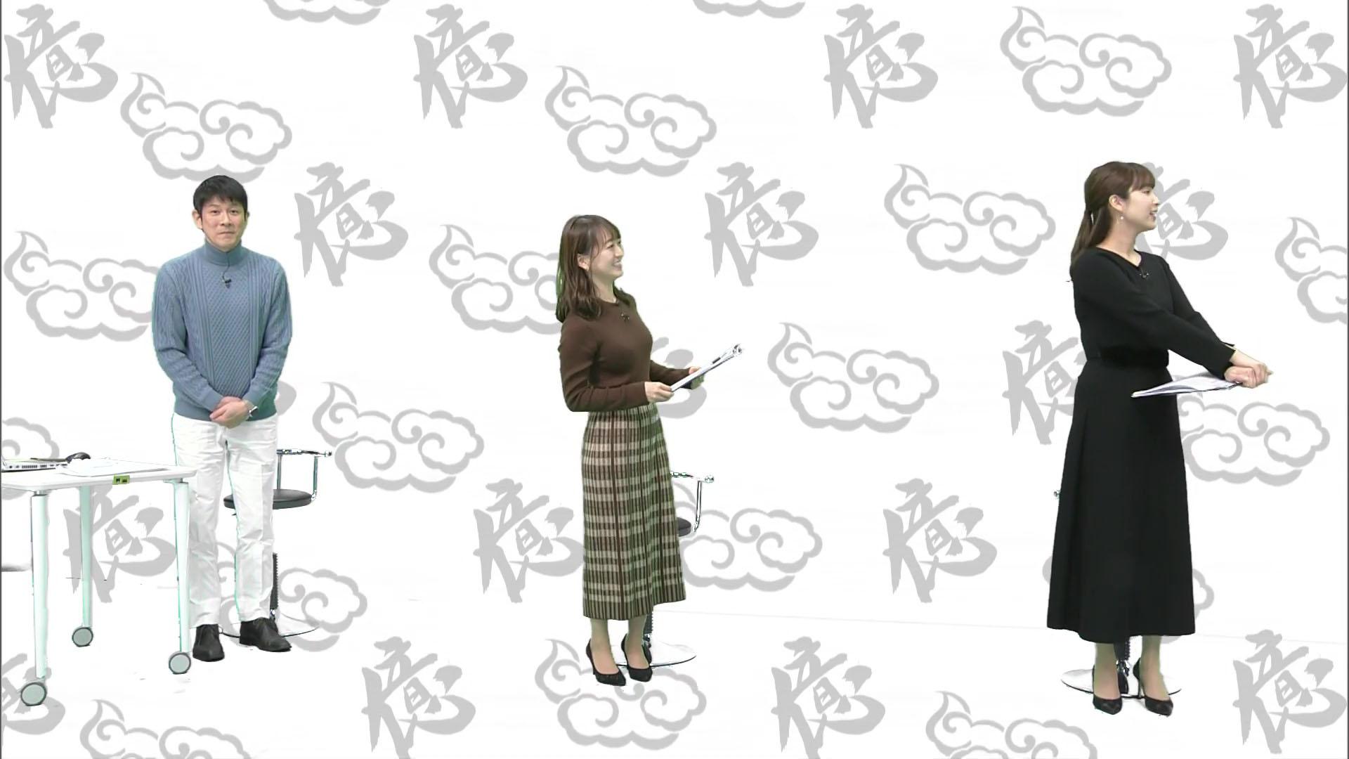 角谷暁子_片渕茜_女子アナ_横乳_エロ画像_10