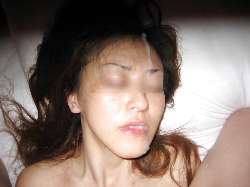 顔射_ぶっかけ_素人熟女_エロ画像_09