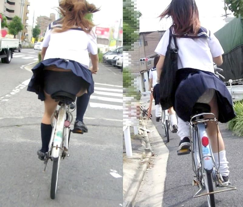 JK_パンチラ_自転車_盗撮_エロ画像_15